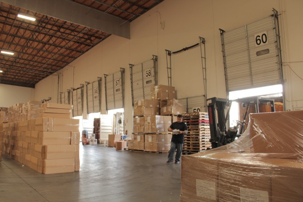 GlobeCon fulfillment warehouse Los Angeles